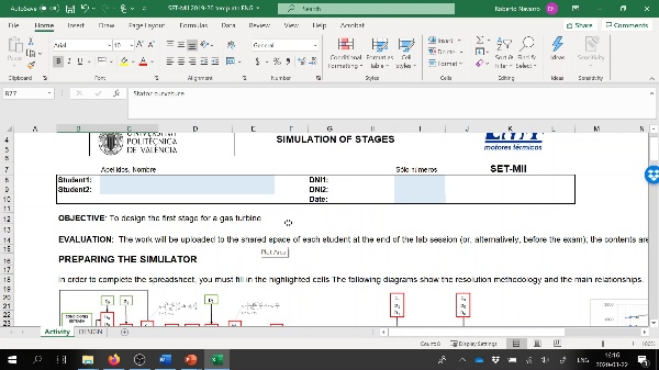 SET 2.- Excel presentation