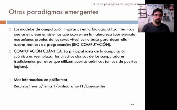 Tema 1. Paradigmas emergentes