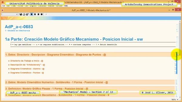 Simulación Mecanismo a-c-0683 con Mechanica - 07 de 13