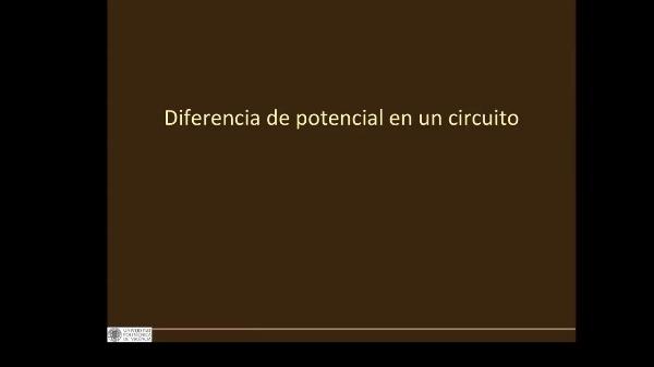 Diferencia de potencial. Procedimiento II