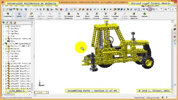 Creación Virtual Modelo Lego Technic 8862-1 ¿ Montaje Modelo ¿ 17 de 44