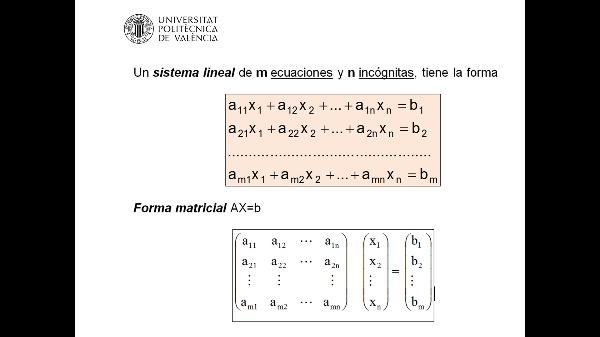 Clasificación de Sistemas de Ecuaciones Lineales (SEL)