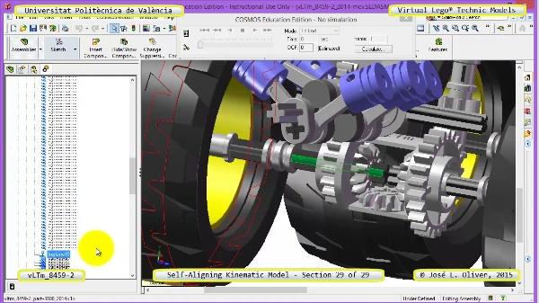 Simulación Cinemática Lego Technic 8459-2 con Cosmos Motion ¿ 29 de 29
