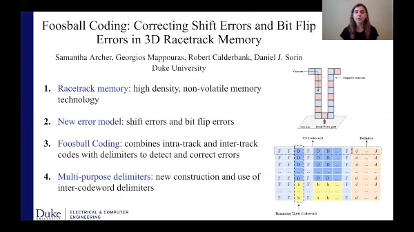 Foosball Coding: Correcting Shift Errors and Bit Flip Errors in 3D Racetrack Memory