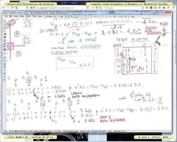Mecánica y Teoría de Mecanismos ¿ 2020 ¿ MM - Clase 08 ¿ Tramo 09 de 13