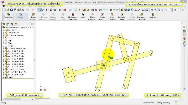 Creación Virtual y Simulación Mecanismo a-z-1138 con Cosmos Motion - 04 de 12