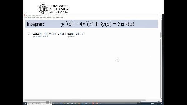 Ecuaciones diferenciales lineales de orden 2 con coeficientes constantes cuyo segundo miembro es una función trigonométrica