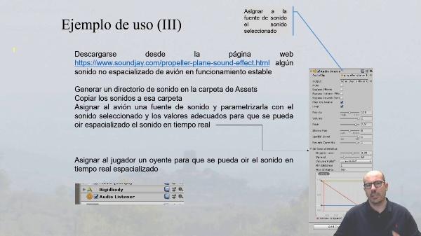 Ejemplo de espacialización de sonidos en Unity 3D