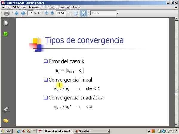 Tema 3. F(x)=0. Tipos de convergencia.