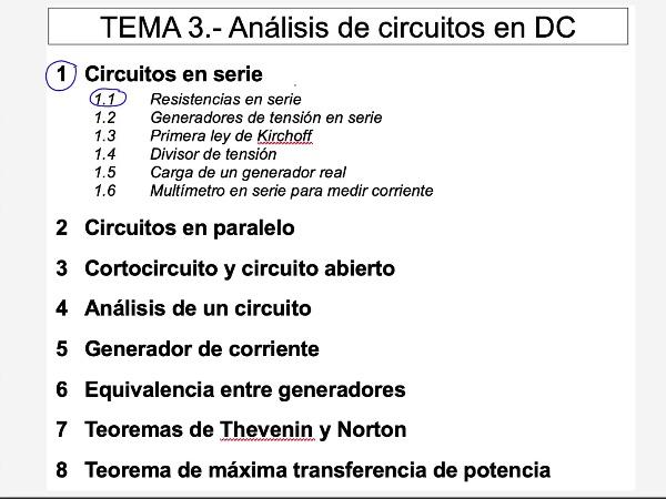 Teoría de Circuitos 1. Lección 3. 1.2 Generadores en serie