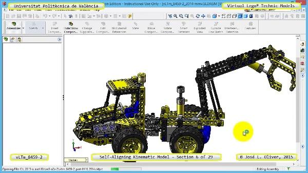 Simulación Cinemática Lego Technic 8459-2 con Cosmos Motion ¿ 06 de 29