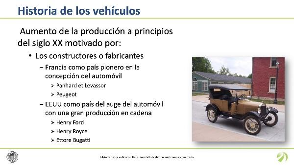 Historia de los vehículos. Del automóvil al vehículo autónomo y conectado