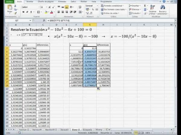 MN-EA-09-18 Método de Iteración en Excel (2)