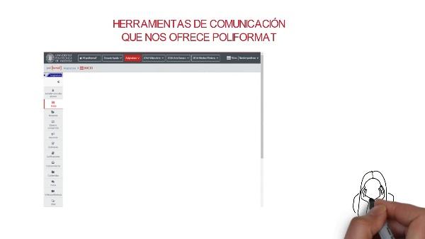 Herramientas de comunicación en PoliformaT