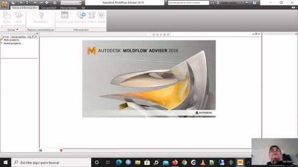 dimensionado de un molde mediante Autodesk moldflow adviser