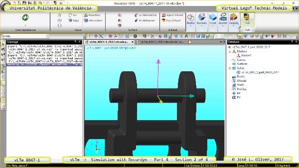 Simulación Cinemática Lego Technic 8047-1 con Recurdyn - Parte 4 ¿ 2 de 4
