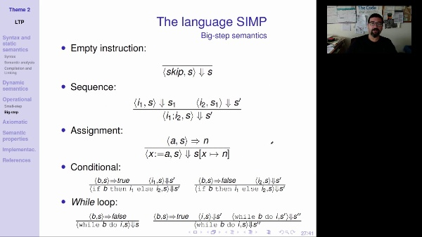 LTP - Unit 2 - Big-step operational semantics