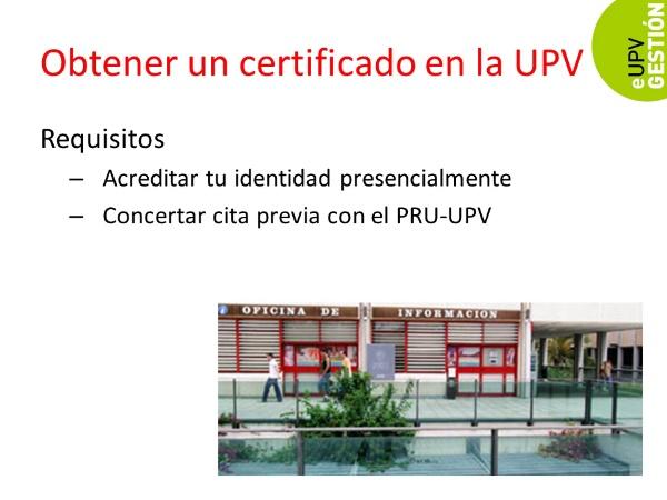 ¿Cómo obtener un certificado electrónico en la UPV?