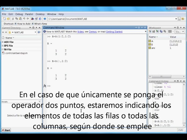 Tutorial Matlab 2. Matrices