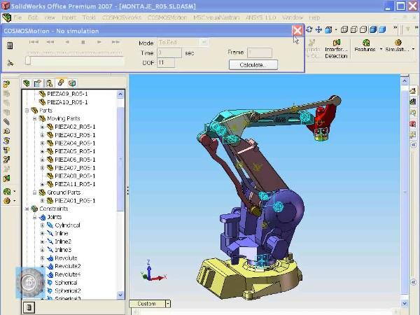 Montaje de un robot ABB con Solidworks - tramo O9 de 10