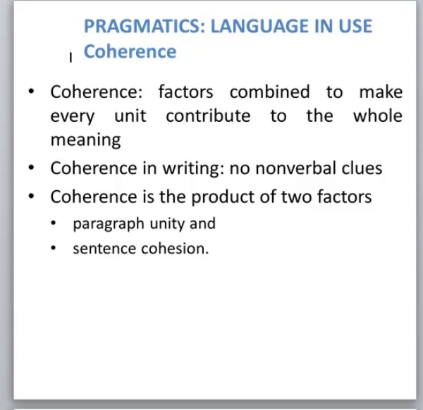 Coherence errors in English