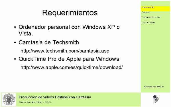 Producción de videos Politube con Camtasia