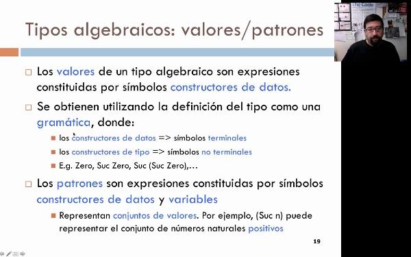 Tema 3. Programación funcional: tipos algebráicos
