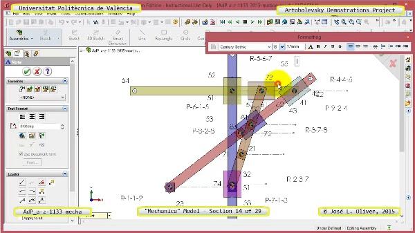 Simulación Mecanismo a-z-1133 con Mechanica - 14 de 29
