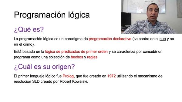 El paradigma de programación lógico