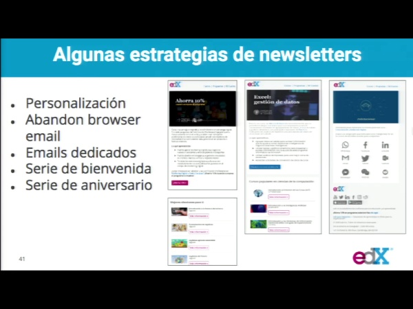 SPOC Gestión de MOOC. Marketing de edX. Newsletter
