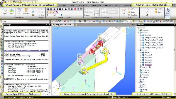 Simulación Cinemática Tang_Door3Inv-v8r5 con Recurdyn - AdP-4 - 2 de 2