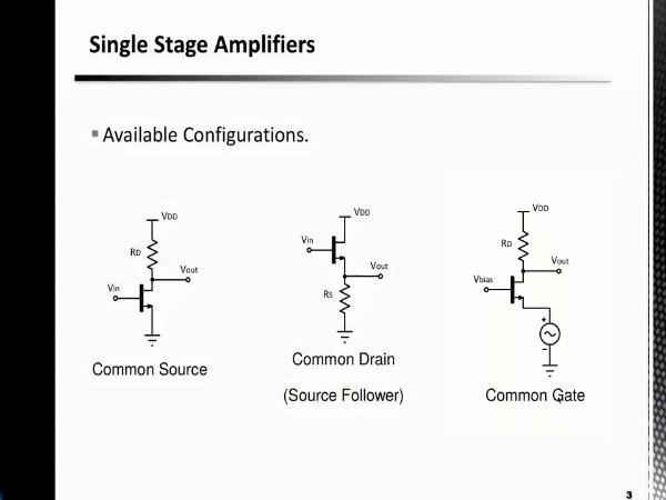 Amplificadores Monoetapa