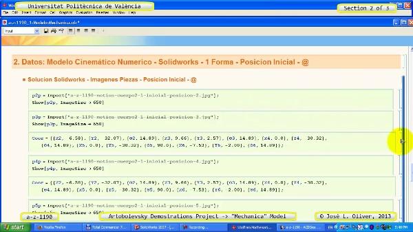 Simulación Mecanismo a_z_1190 con Mechanica - 2 de 3