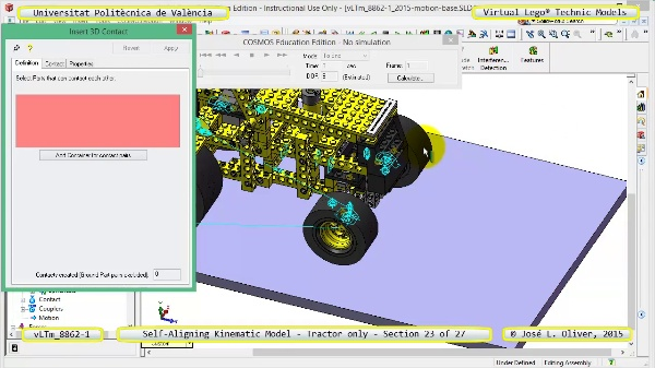 Simulación Dinámica Lego Technic 8862-1 - Tractor - sobre Base - 23 de 27
