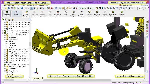 Creación Virtual Modelo Lego Technic 8862-1 ¿ Montaje Modelo ¿ 42 de 44
