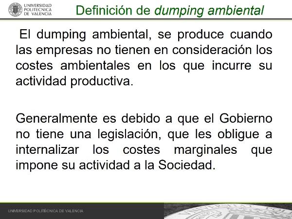 Dumping ambiental
