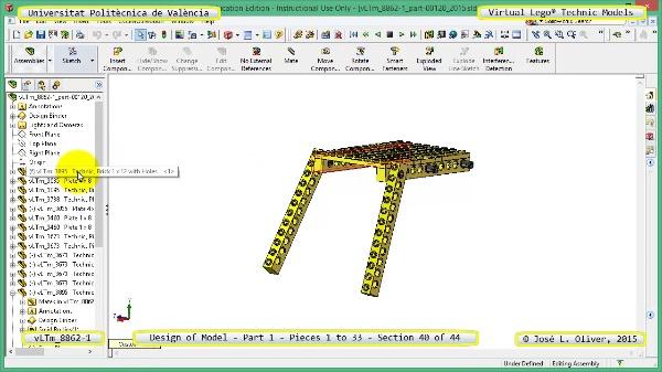 Creación Virtual Modelo Lego Technic 8862-1 ¿ Pieza 1 ¿ 40 de 44