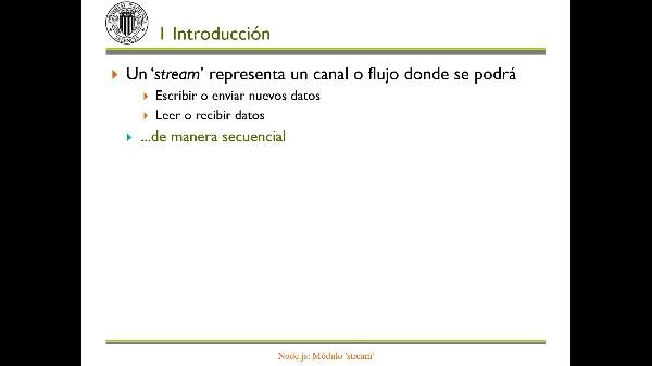 Node.js: Módulo 'stream'