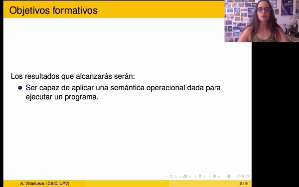 Un ejemplo de traza de ejecución siguiendo una semántica operacional de paso pequeño