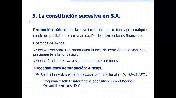 Fundación sucesiva de sociedades de capital
