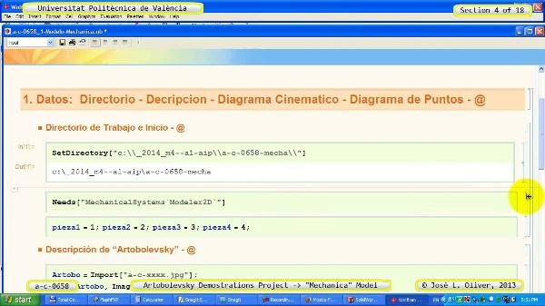 Simulación Mecanismo a_c_0658 con Mechanica - 04 de 18