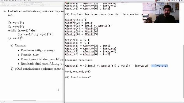 AVD - Ejemplo de análisis de expresiones disponibles (paso a paso)