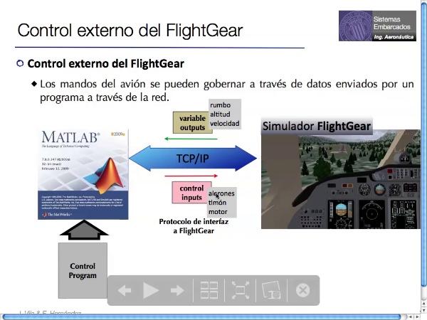 Autopiloto en Matlab parael simulador de vueloFlightGear