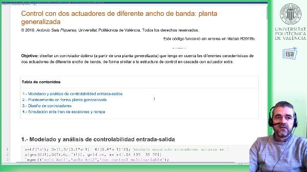 Control H-infinito con dos actuadores de diferente ancho de banda (ejemplo Matlab): simulación de resultados [2]