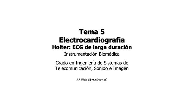 IBM-T5-08 - Electrocardiografía - Holter