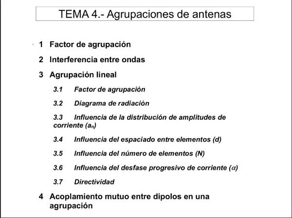 4.3.7.- Agrupación Lineal: Directividad