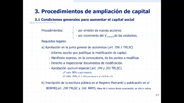 Procedimientos ampliación de capital