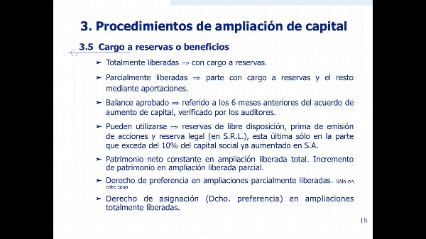 Ampliación de capital con cargo a reservas