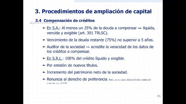Ampliación de capital por compensación de créditos