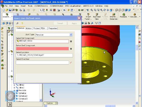 Montaje de un robot ABB con Solidworks - tramo O8 de 10